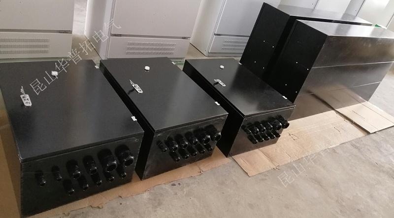 8台黑色电气柜