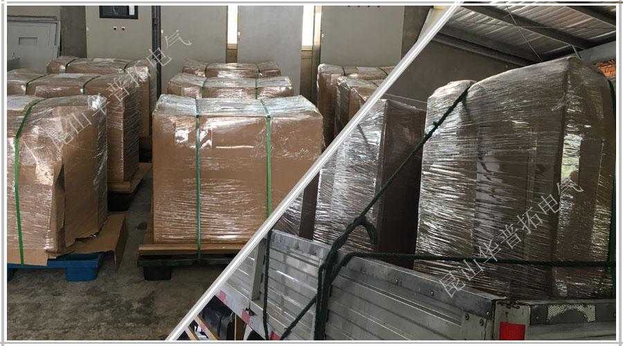 19台变频器控制柜包装出货-送往上海港口