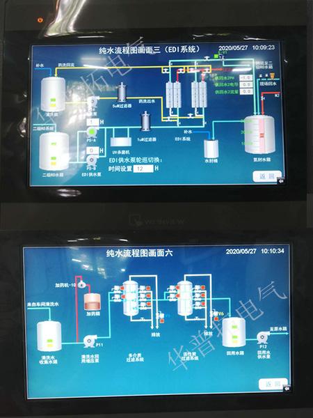 纯水处理plc自控柜系统