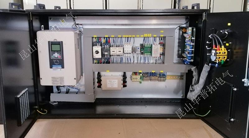 30KW变频控制箱内部元件安装图