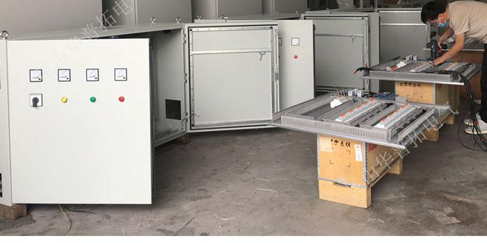 华普拓14台电控箱发往山东风电大叶片模具配电箱