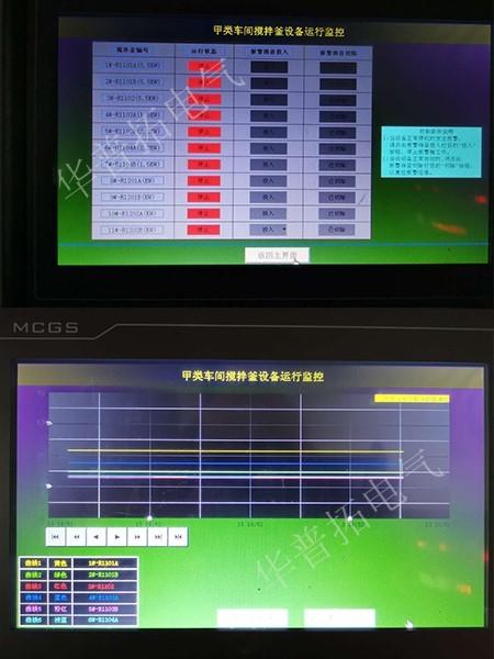 程序控制曲线画面