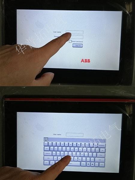 网板式细格栅控制系统ABB触摸屏密码登录系统