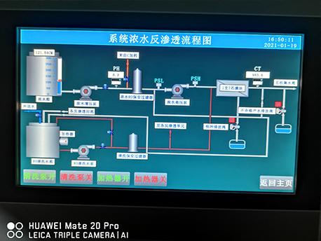 水处理项目PLC控制柜触摸屏画面
