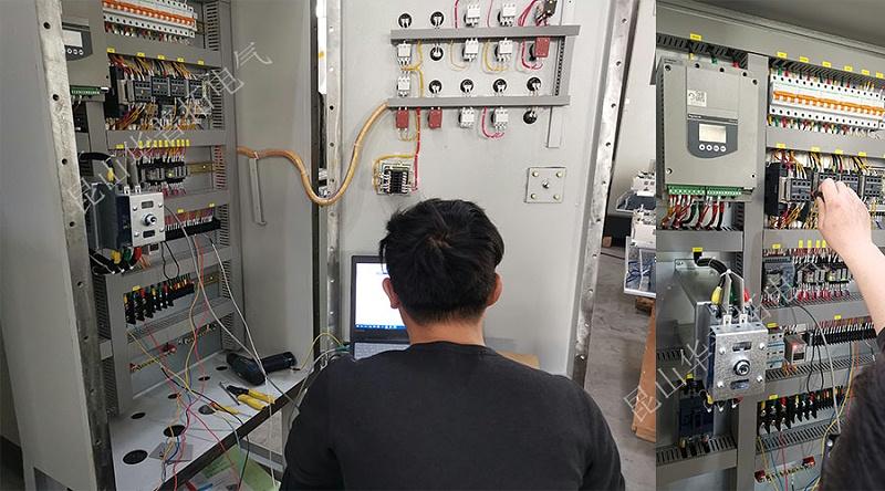 刘工对除尘防爆柜通电检测