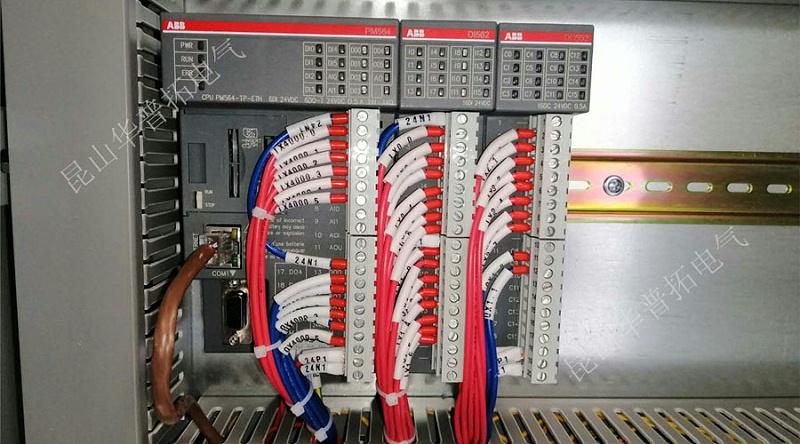 PLC控制柜内ABB模块接线图