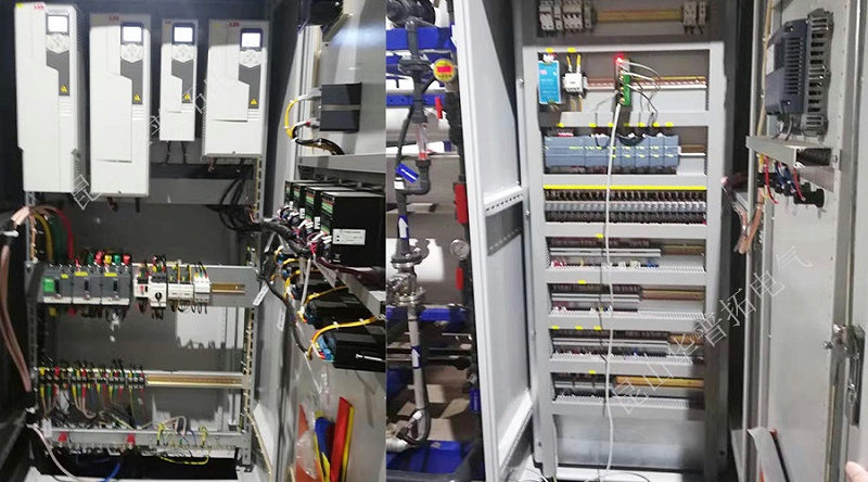 废水处理PLC变频控制柜内部结构