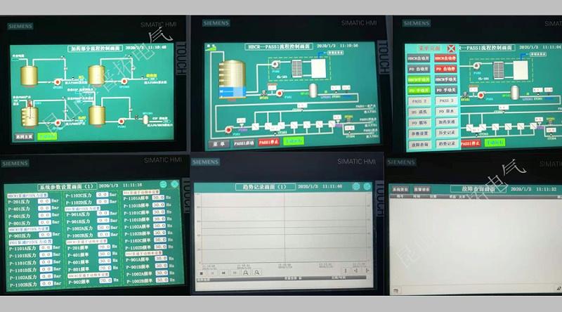 环保智能PLC控制系统组态画面