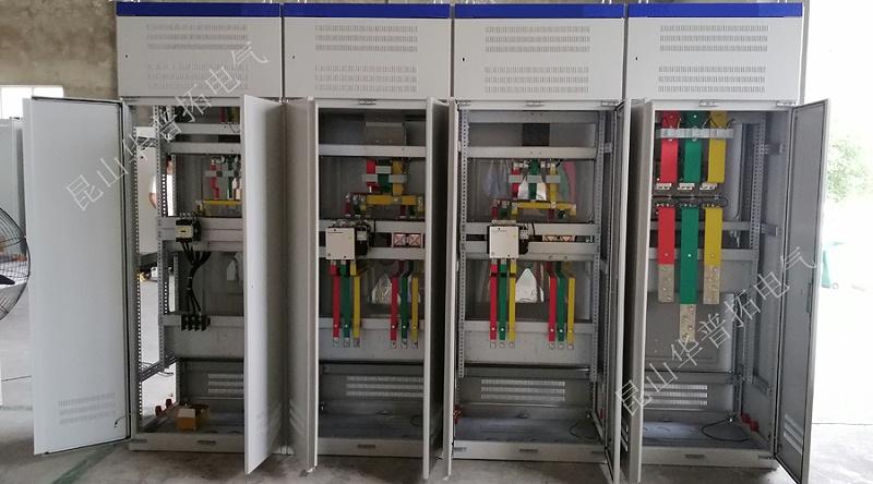 风机动力柜反面铜排装配图
