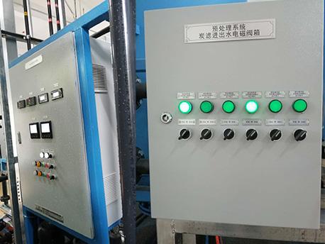 义乌环保公司纯水PLC电控柜项目案例