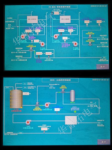 天津海淡水处理系统plc变频柜画面
