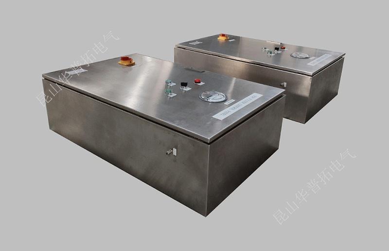 集尘系统远程PLC控制箱安装现场
