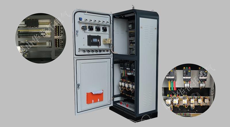 垃圾滤出液处理PLC柜内部结构