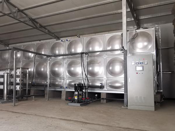 江苏友康生态蘑菇水二期纯水系统PLC变频控制柜案例