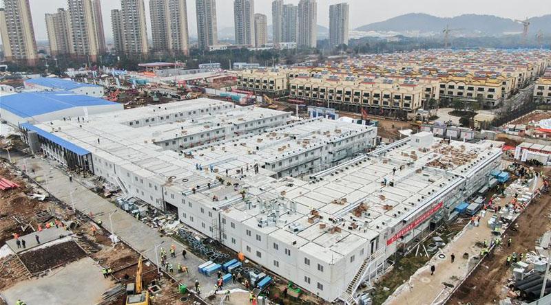 10天建成的武汉火神山医院全貌