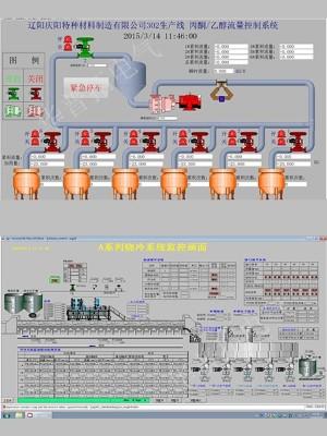 辽阳特种材料生产线控制柜系统画面