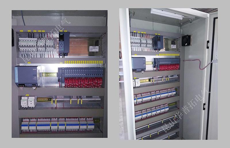 污水处理PLC控制柜内部图