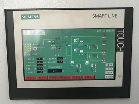华海药业制药除尘HV清扫中央集尘系统显示画面