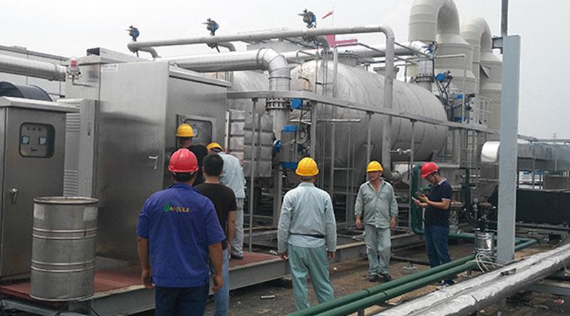上海高砂RTO焚烧炉废气处理节能PLC控制柜