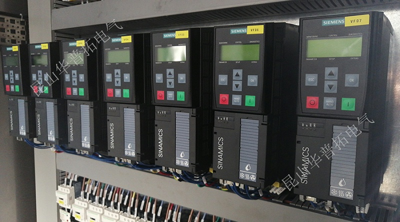 电气控制柜内部细节展示 进口西门子G120系列变频器