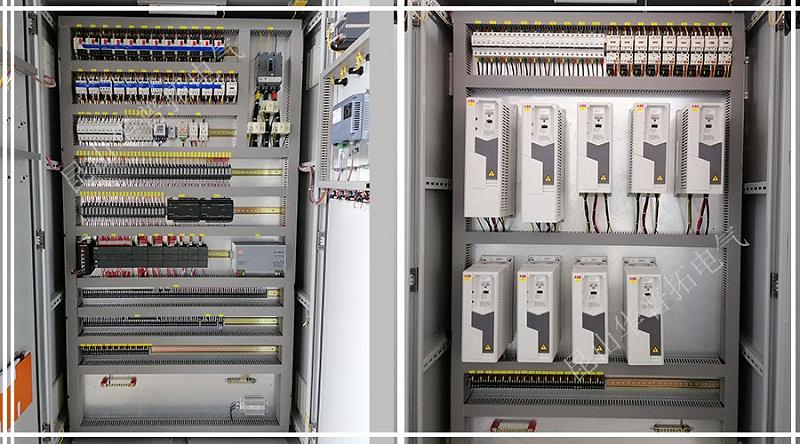 9台ABB变频器柜正反面布局图
